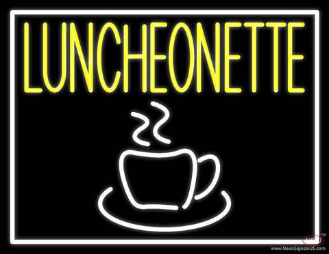 Luncheonette With Coffee Glass Real Neon Glass Tube Neon Sign