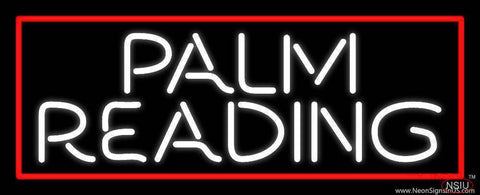 White Palm Reading Red Border Real Neon Glass Tube Neon Sign