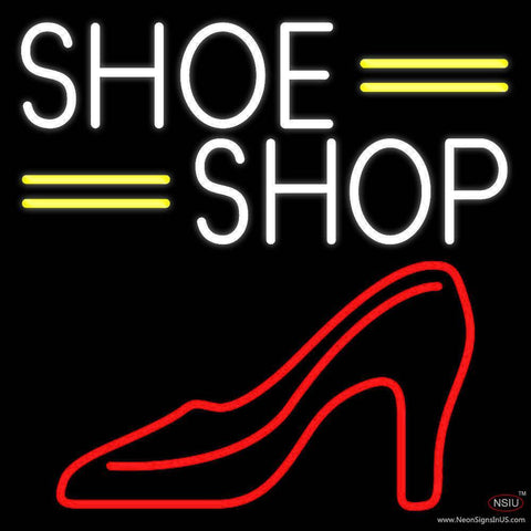 White Shoe Shop Real Neon Glass Tube Neon Sign