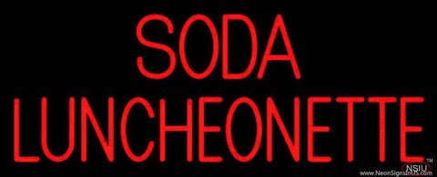 Soda Luncheonette Real Neon Glass Tube Neon Sign