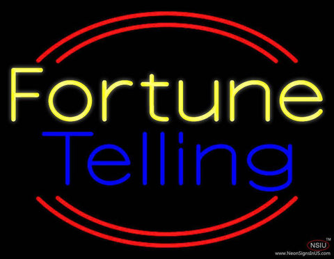 Yellow Fortune Blue Telling Real Neon Glass Tube Neon Sign