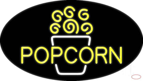 Yellow Popcorn  Real Neon Glass Tube Neon Sign