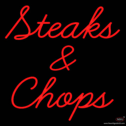 Steaks and Chops Real Neon Glass Tube Neon Sign