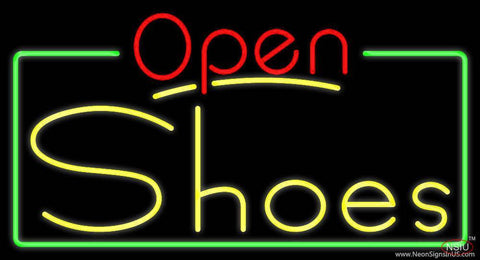 Yellow Shoes Open Real Neon Glass Tube Neon Sign