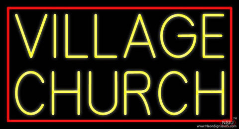 Yellow Village Church Real Neon Glass Tube Neon Sign