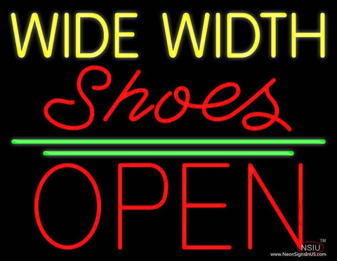 Yellow Wide Width Red Shoes Open Real Neon Glass Tube Neon Sign