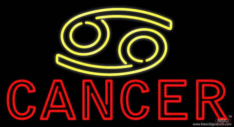 Yellow Zodiac Red Cancer Real Neon Glass Tube Neon Sign