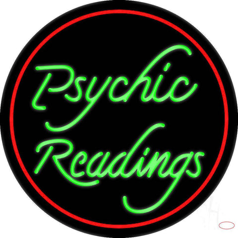 Green Psychic Readings Real Neon Glass Tube Neon Sign
