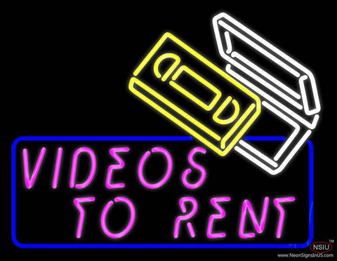 Videos To Rent Real Neon Glass Tube Neon Sign