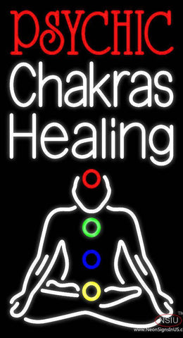 White Psychic Chakras Healing Real Neon Glass Tube Neon Sign
