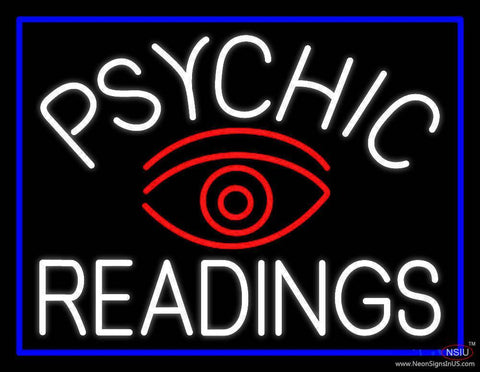 White Psychic Readings And Red Eye Real Neon Glass Tube Neon Sign