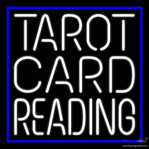 White Tarot Card Reading Real Neon Glass Tube Neon Sign