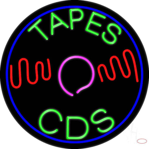 Tapes Cds Disc Real Neon Glass Tube Neon Sign
