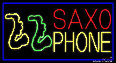 Yellow Saxophones Real Neon Glass Tube Neon Sign