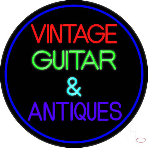 Yellow Vintage Guitars Real Neon Glass Tube Neon Sign