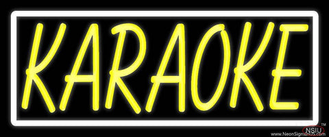 Yellow Karaoke Border Real Neon Glass Tube Neon Sign
