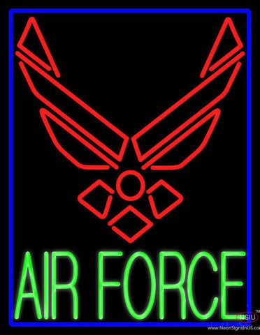 Blue Air Force With Blue Border Real Neon Glass Tube Neon Sign