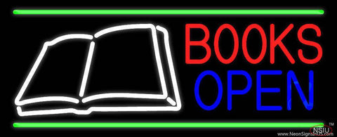 Book Open Logo Real Neon Glass Tube Neon Sign