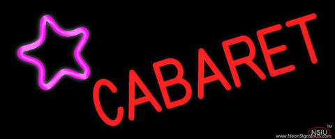 Cabaret Star Logo Real Neon Glass Tube Neon Sign