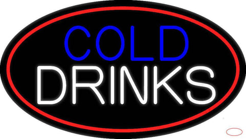 Cold Drinks Real Neon Glass Tube Neon Sign
