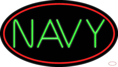 Navy Block Real Neon Glass Tube Neon Sign