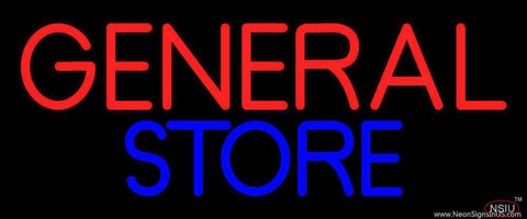 Red General Store Real Neon Glass Tube Neon Sign