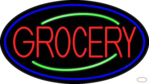 Simple Grocery Real Neon Glass Tube Neon Sign