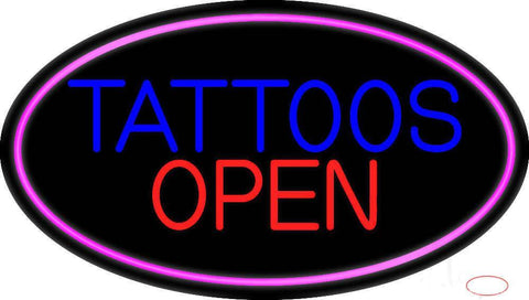 Tattoos Open Real Neon Glass Tube Neon Sign