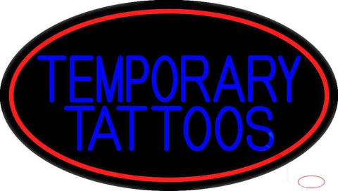 Temporary Tattoos Real Neon Glass Tube Neon Sign