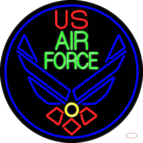 Us Air Force Real Neon Glass Tube Neon Sign