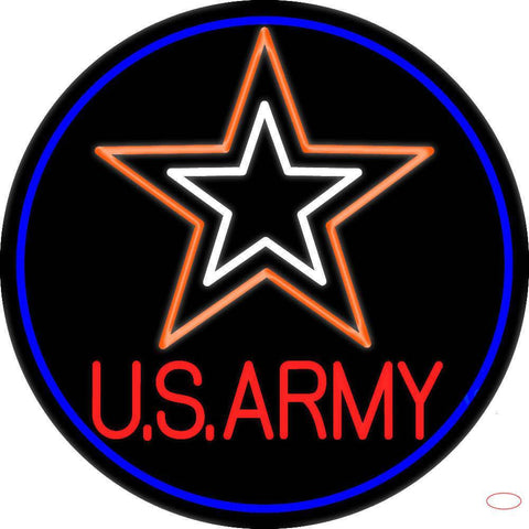 Us Army Real Neon Glass Tube Neon Sign