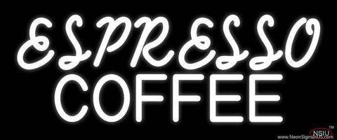 White Espresso Coffee Glass Real Neon Glass Tube Neon Sign
