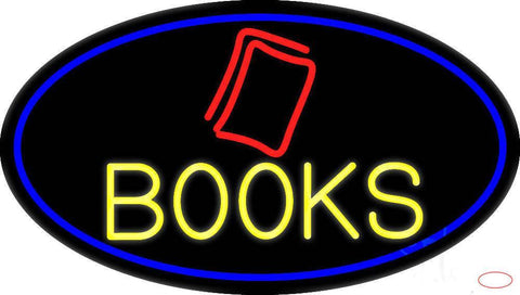 Yellow Books Real Neon Glass Tube Neon Sign