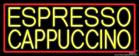 Yellow Cappuccino Espresso Real Neon Glass Tube Neon Sign