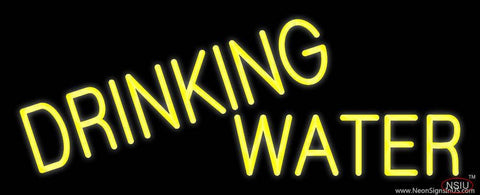 Yellow Drinking Water Real Neon Glass Tube Neon Sign