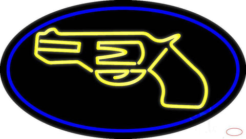 Yellow Gun Real Neon Glass Tube Neon Sign