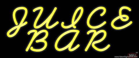 Yellow Juice Bar Real Neon Glass Tube Neon Sign