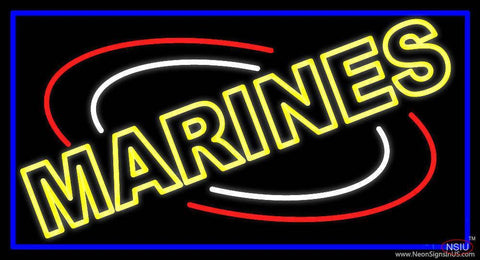 Yellow Marines Real Neon Glass Tube Neon Sign