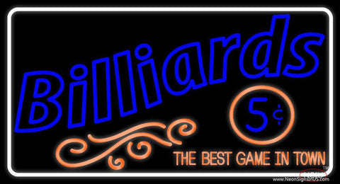 Billiards  Real Neon Glass Tube Neon Sign
