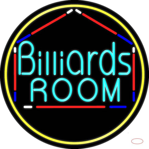 Billiards Room  Real Neon Glass Tube Neon Sign