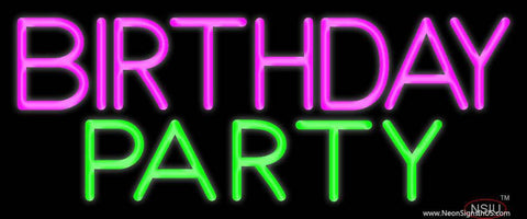 Birthday Party  Real Neon Glass Tube Neon Sign
