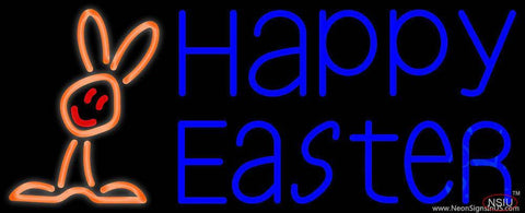 Happy Easter With Egg  Real Neon Glass Tube Neon Sign