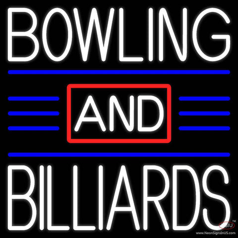 Bowling And Billiards  Real Neon Glass Tube Neon Sign