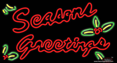 Seasons Greetings With Holy Real Neon Glass Tube Neon Sign