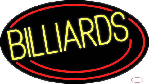 Vertical Billiards  Real Neon Glass Tube Neon Sign