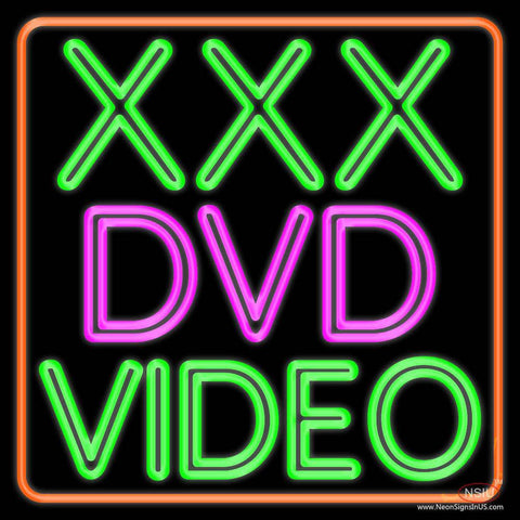 Xxx Dvd Video  Real Neon Glass Tube Neon Sign