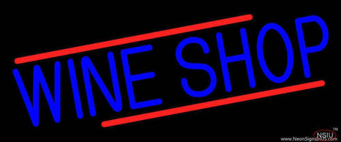 Blue Wine Shop Real Neon Glass Tube Neon Sign