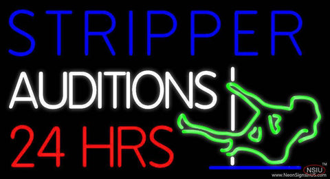 Stripper Auditions  Hrs Real Neon Glass Tube Neon Sign