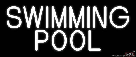 White Swimming Pool Real Neon Glass Tube Neon Sign