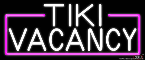 White Tiki Vacancy Real Neon Glass Tube Neon Sign
